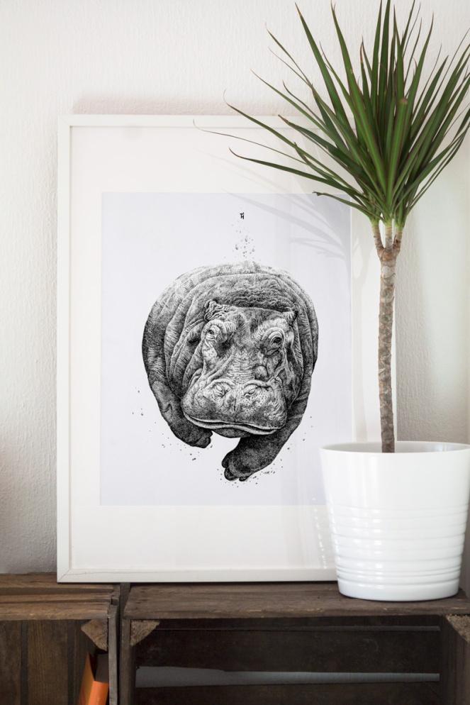 Hippo_Gerahmt